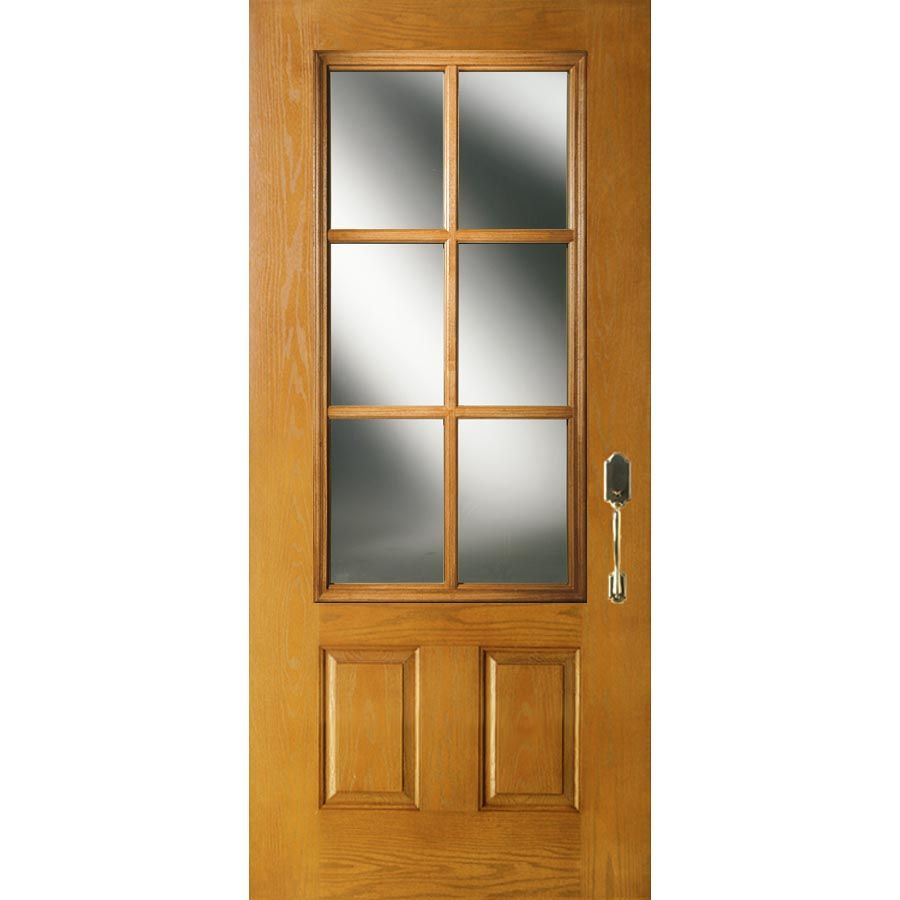 Odl Clear Low E Door Glass 6 Light 7 8 Simulated Divided Light