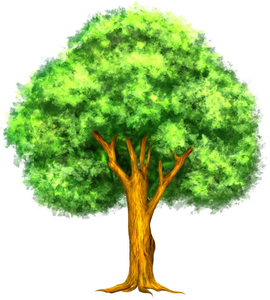 Green Painted Tree Clipart Scrapbooking Pinterest Tree Clipart