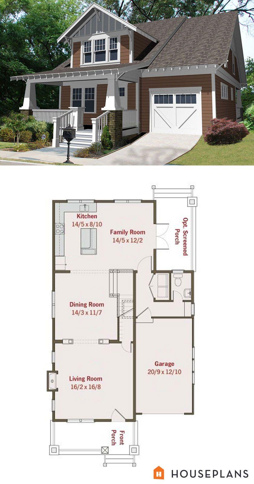 Craftsman bungalow plan 2000 sft 3 bedroom