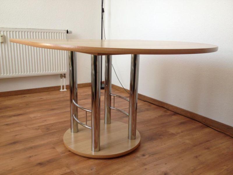 ausziehbarer Esstisch, Durchmesser 111cmausgezogen