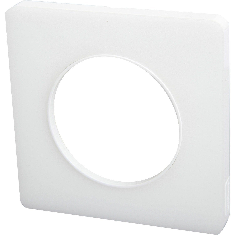 Plaque Simple Odace Schneider Electric Blanc Translucide Volet