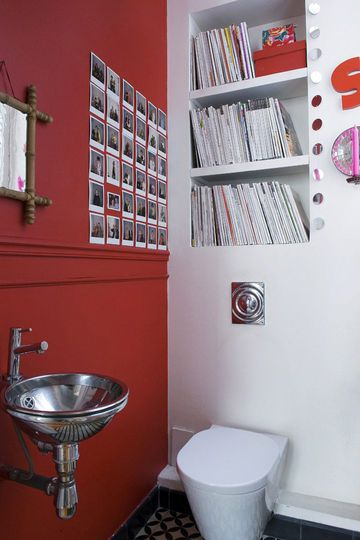 Déco des wc  3 photos pour 3 styles Pinterest Rouge, Toilet and