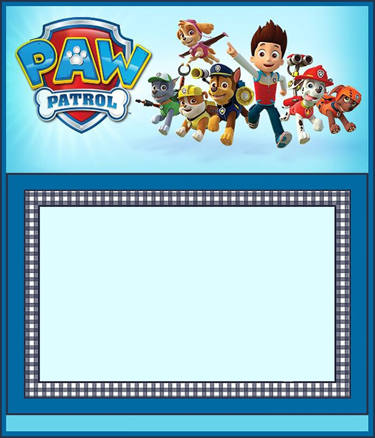 photo relating to Paw Patrol Printable Invitations titled Absolutely free Paw Patrol Invitation Template Ds Birthday functions