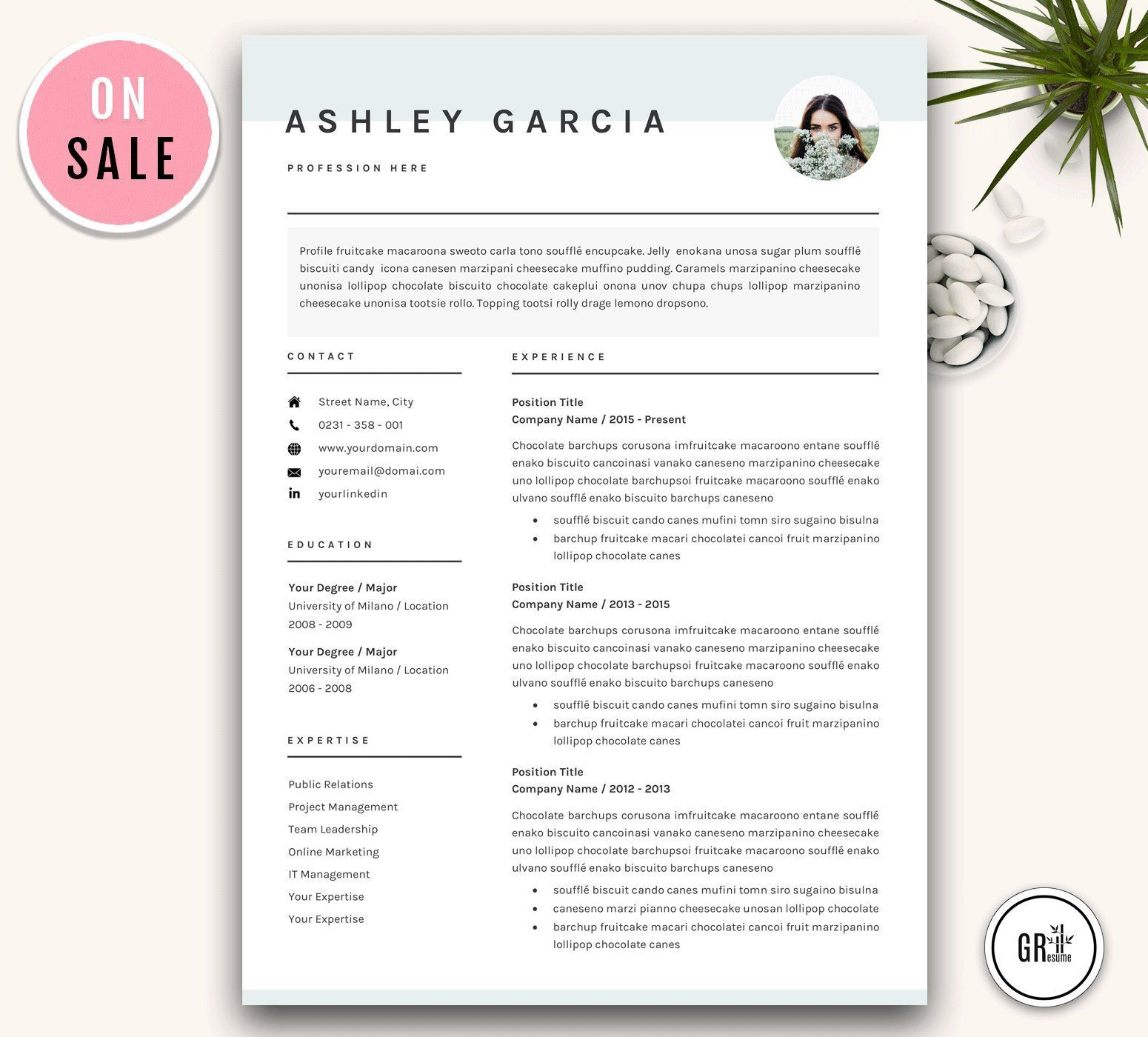 Word Resume/CV Template. Clean, Modern and Professional