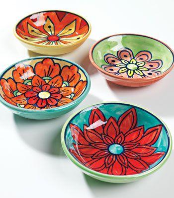 Handpainted Ceramic Mini Bowl Dish Pottery