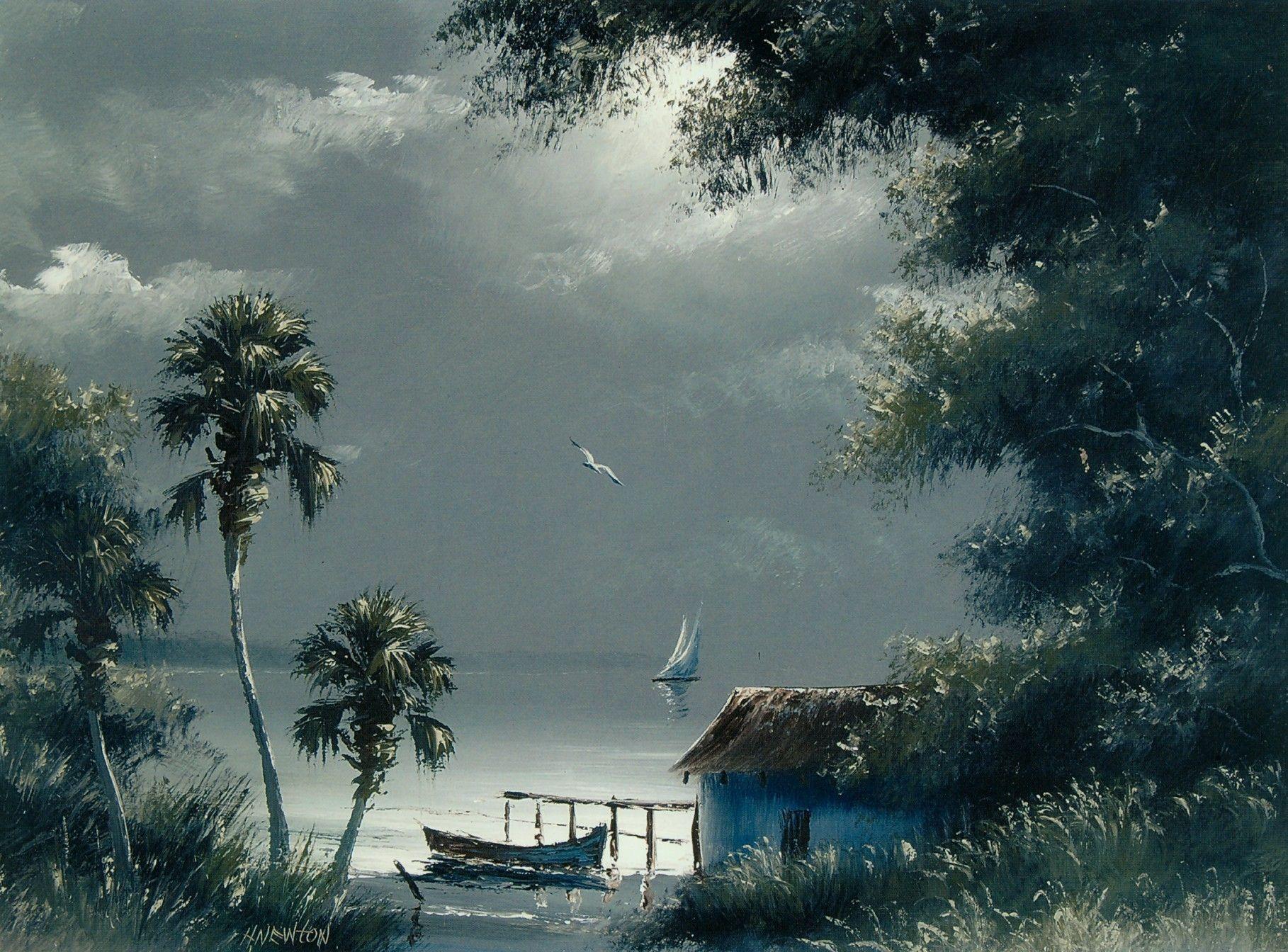 Harold Newton   Florida art, Palm trees painting