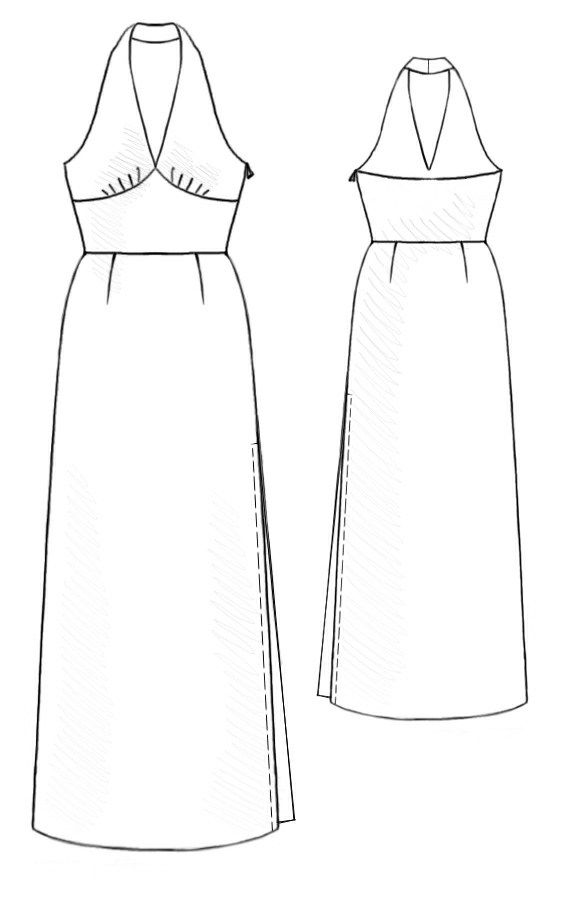 Dress - Sewing Pattern #5206. Made-to-measure sewing pattern from ...