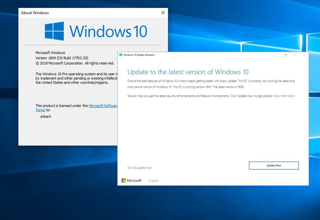 Get early October 2018 Update 1809 with the Windows 10 Update
