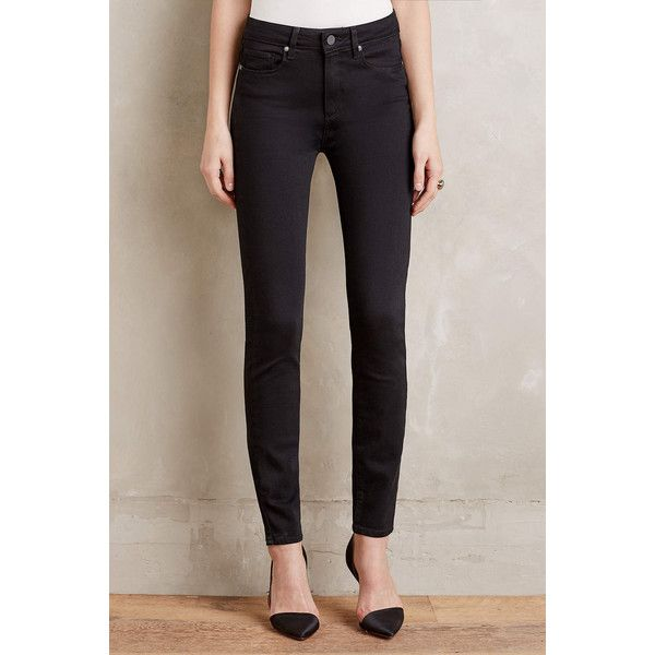 Paige Hoxton Ultra-Skinny Jeans ($169) ❤ liked on Polyvore featuring jeans, black, black skinny leg jeans, skinny leg jeans, black denim skinny jeans, paige denim jeans and super skinny jeans