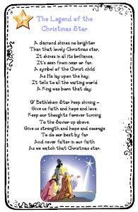 Christmas Star Poem | Christmas prayer