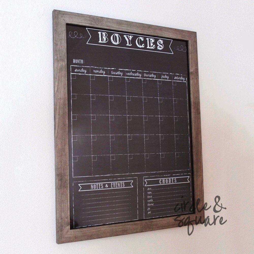 dry-erase calendar, custom framed calendar, size 18\