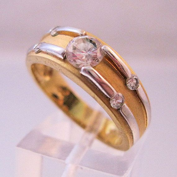 RSC 18KT GE 3 4ct Cubic Zirconia Wedding by BrightEyesTreasures