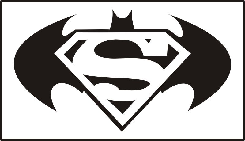 Free Download Batman Superman Logo Clipart For Your Creation