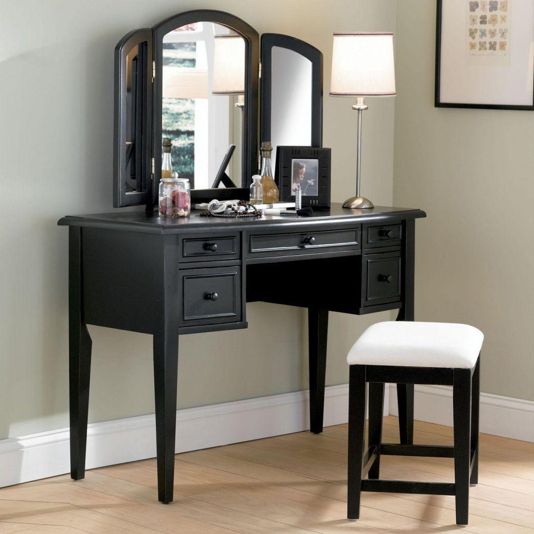 Cheap vanities for bedrooms rustic bedroom decorating ideas powell antique black vanity set with mirror geotapseo Gallery