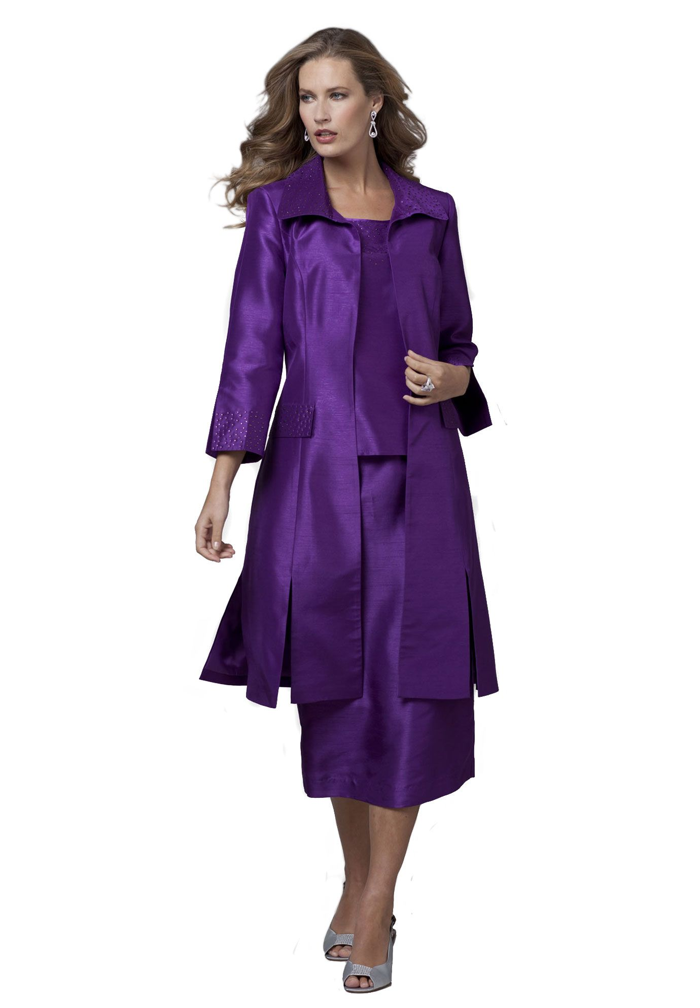 3-Piece Carwash Skirt Suit | Plus Size Special Occasion ...