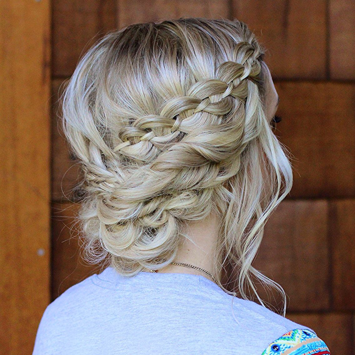 How To: Four Strand Waterfall Braid into a Fancy Updo ...