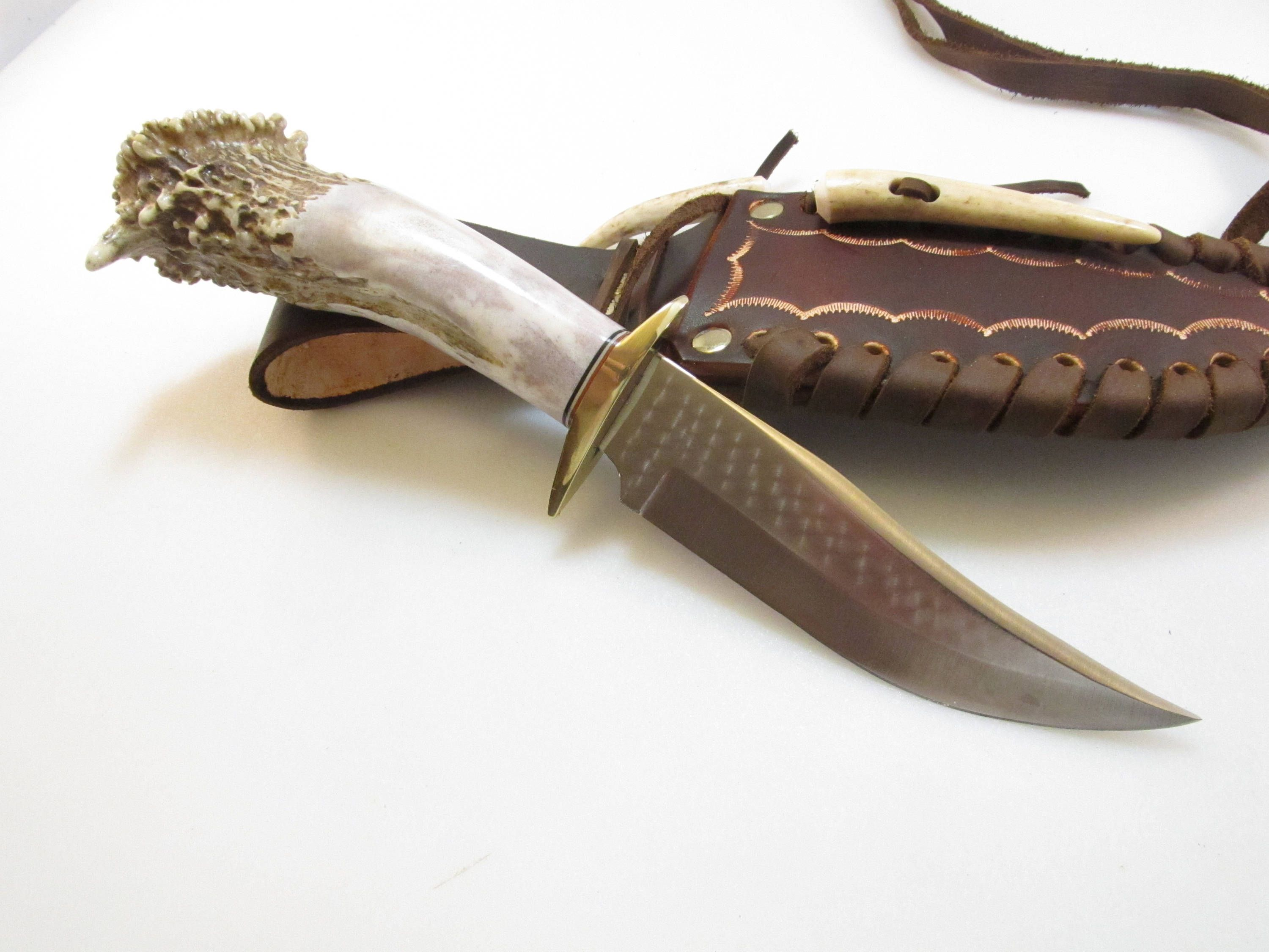 Hunting Knife Knives Stag Handle Bowie 5 Quot Antler Horn Bone