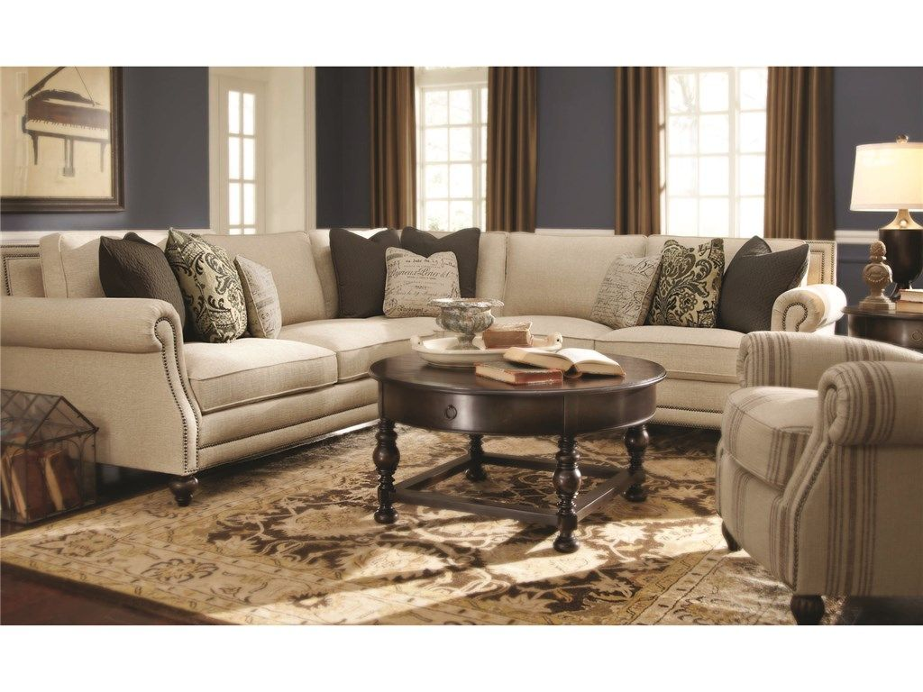 Bernhardt Living Room Brae Sectional 832270 Furniture Fair Cincinnati Dayton Oh And