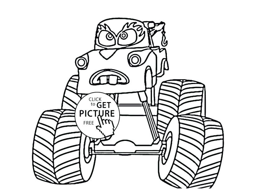 Mater Malvorlagen Monstertrucks Malvorlagen Monster Truck Coloring Page Fa 1 4 R
