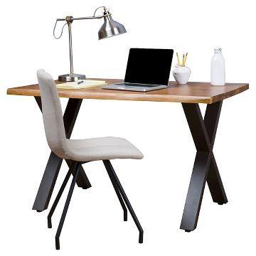 Jedidiah Acacia Wood Computer Desk Teak Finish Christopher Knight Home