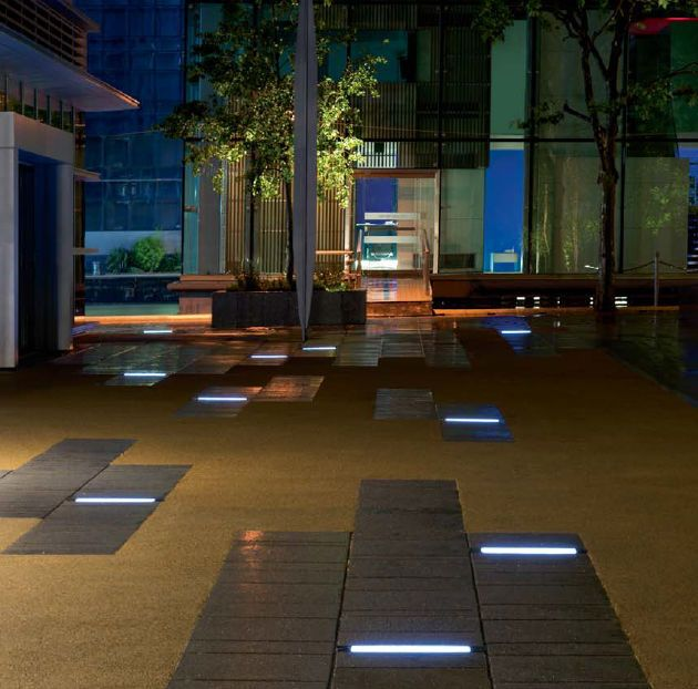 Recessed Floor Light Fixture Fluorescent Led Linear Etr100 We Ef Leuchten