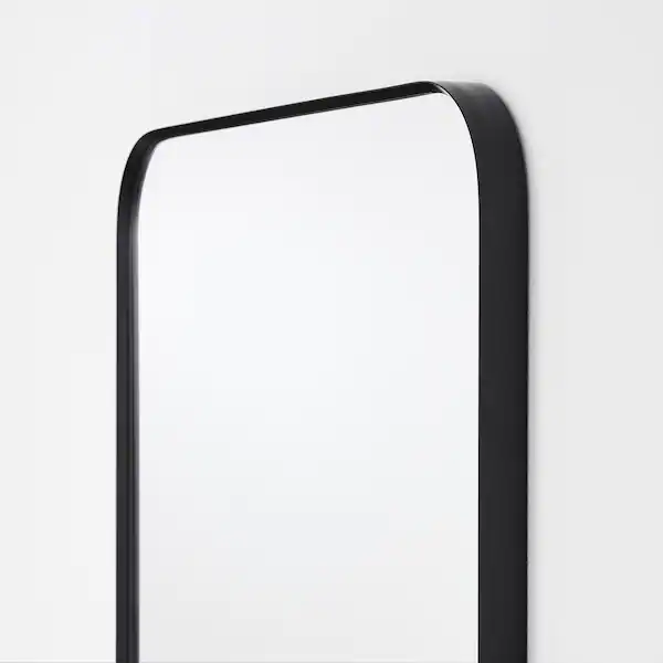 Lindbyn Mirror Black 15 3 4x51 1 8 Ikea In 2020 Black Bathroom Mirrors Black Mirror Frame Mirror