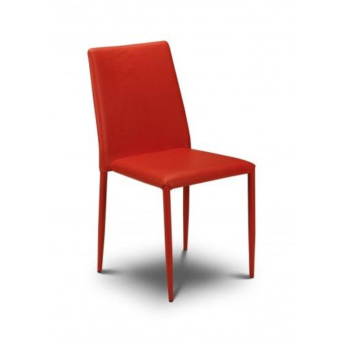 Julian Bowen Jazz Stacking Chair In Red