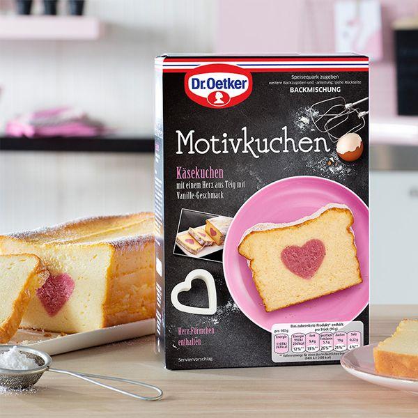 Motivkuchen Herz Dr Oetker Motivkuchen Herz Die Saftige Kasekuchen Backmischung Mit Einem Herz Aus Teig Mit Vanille Geschmac Kuchen Dr Oetker Kuchen Backen