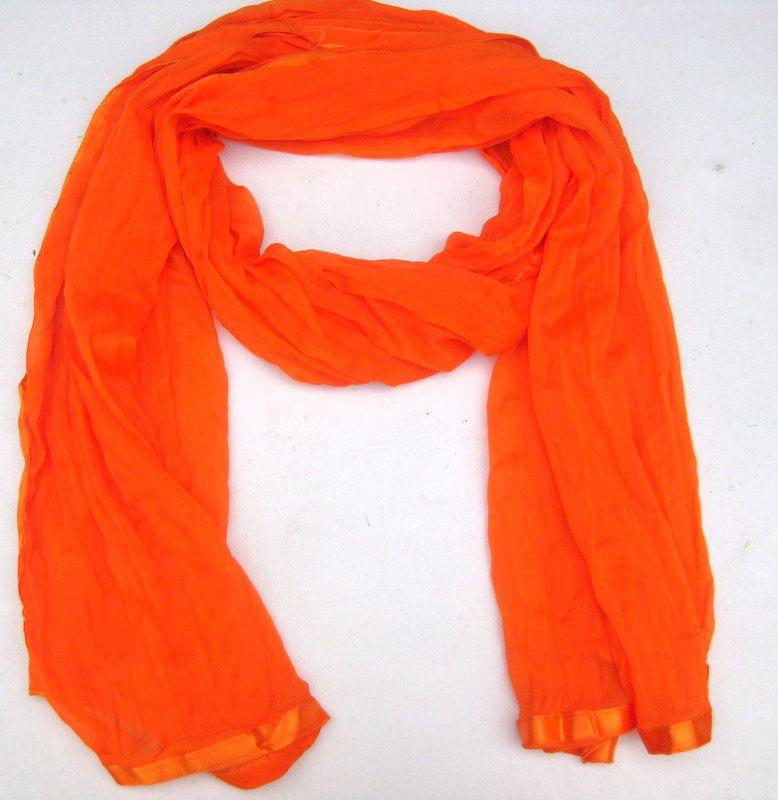 Orange scarf/ plain scarf/ trendy scarf/ fashion scarf/ light weight scarf/  lace scarf/ gift scarf / gift ideas | Lightweight scarf, Scarf styles, Orange  scarf