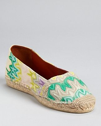 Missoni Espadrille Flats would be even cuter if they were ballet flat style like the ones in France...