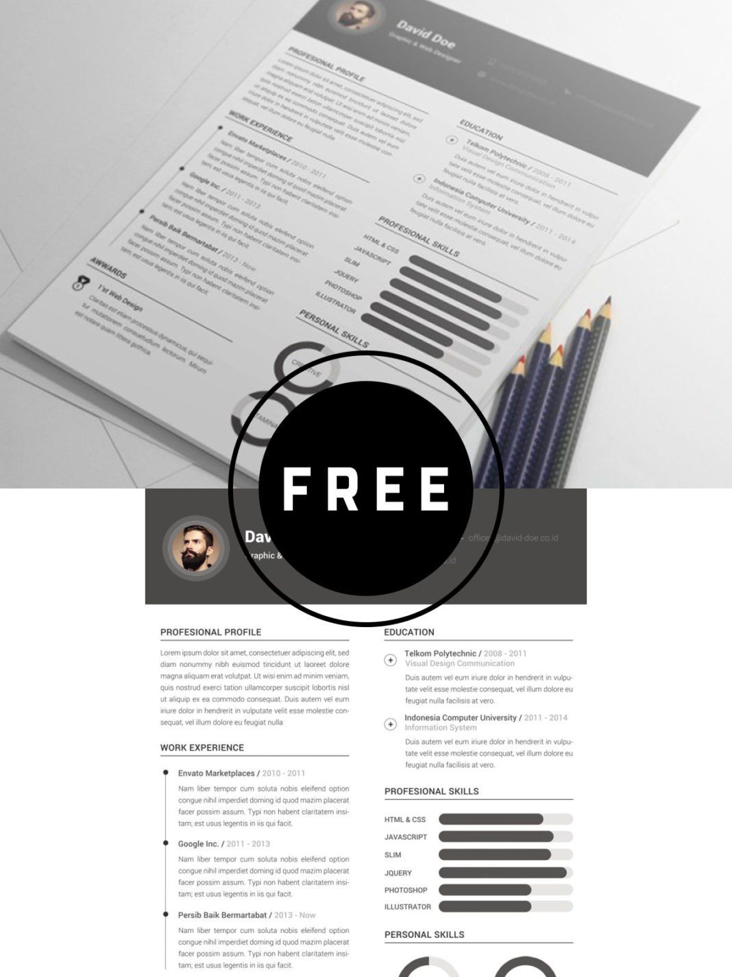 Free Clean Resume Template | Tips and Tricks+ | Resume templates ...