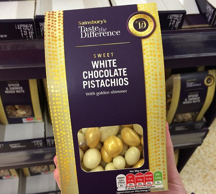 White Chocolate Pistachios (uk) White chocolate