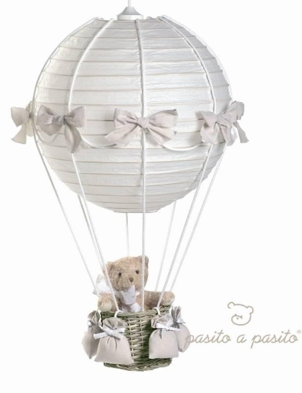 pasito a pasito lampe montgolfi re ours beige nounours. Black Bedroom Furniture Sets. Home Design Ideas