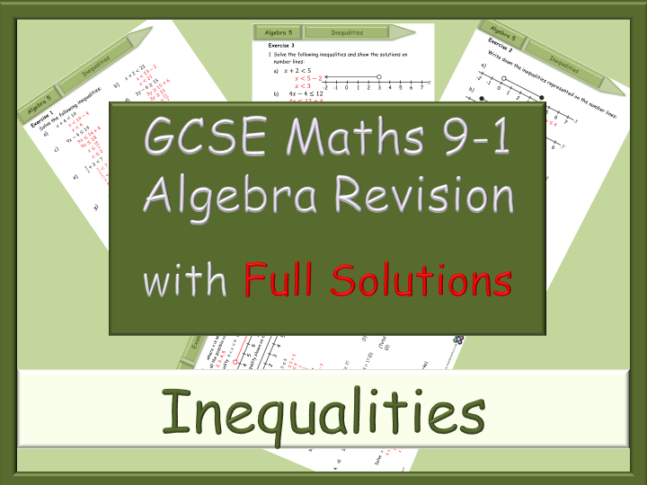 GCSE algebra revision 91 Inequalities with Full