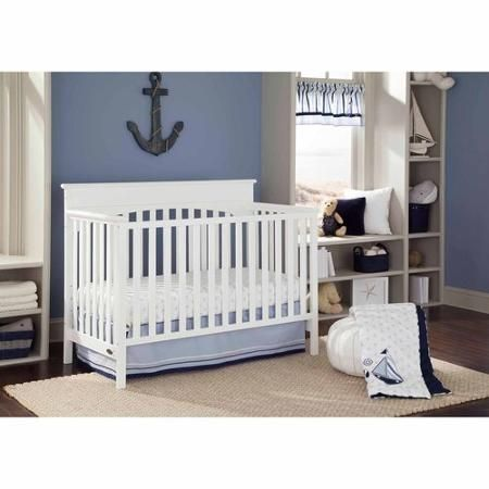 Graco Lauren 4-in-1 Convertible Fixed-Side Classic Crib, Choose Your Finish - Walmart.com