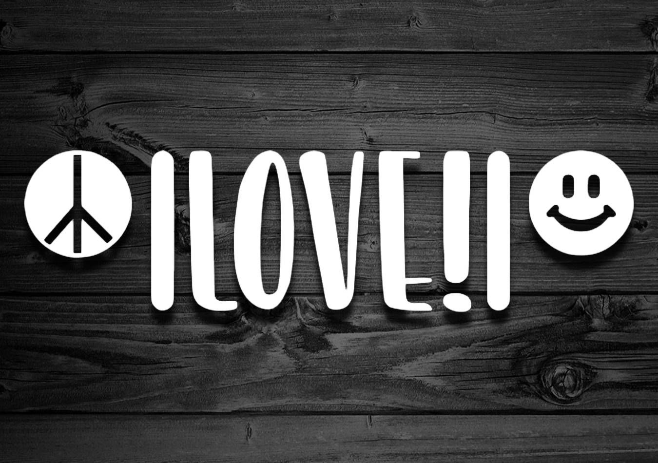 Peace Love And Happiness Vinyl Decal For Jeeps Car Decal Stickers