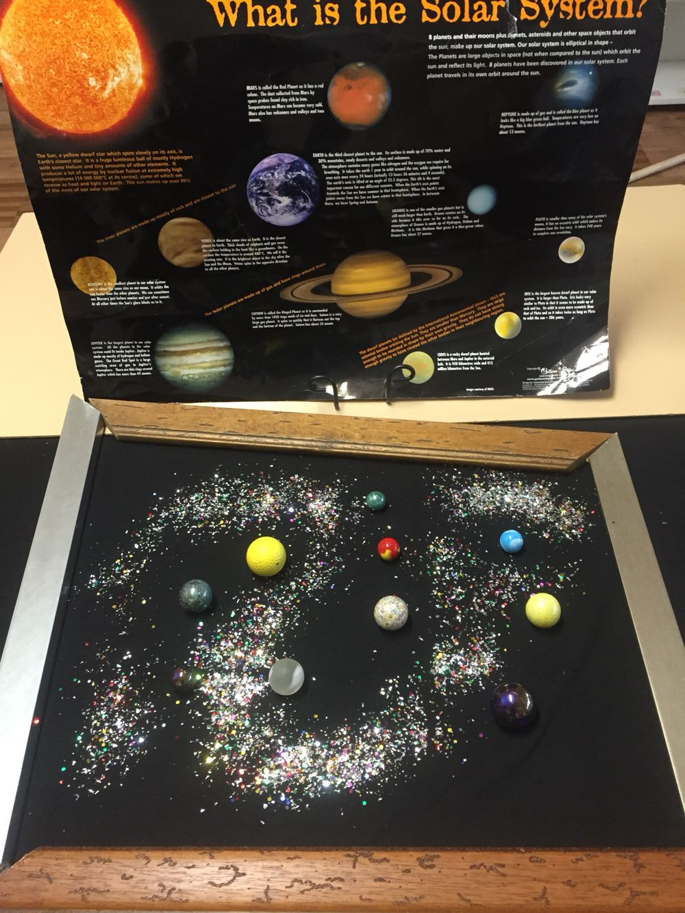 Outer Space Unit Reggio Play Sensory And Exploration With Marbles And Glitter To Represent Planets And Space Activities Space Theme Preschool Space Preschool