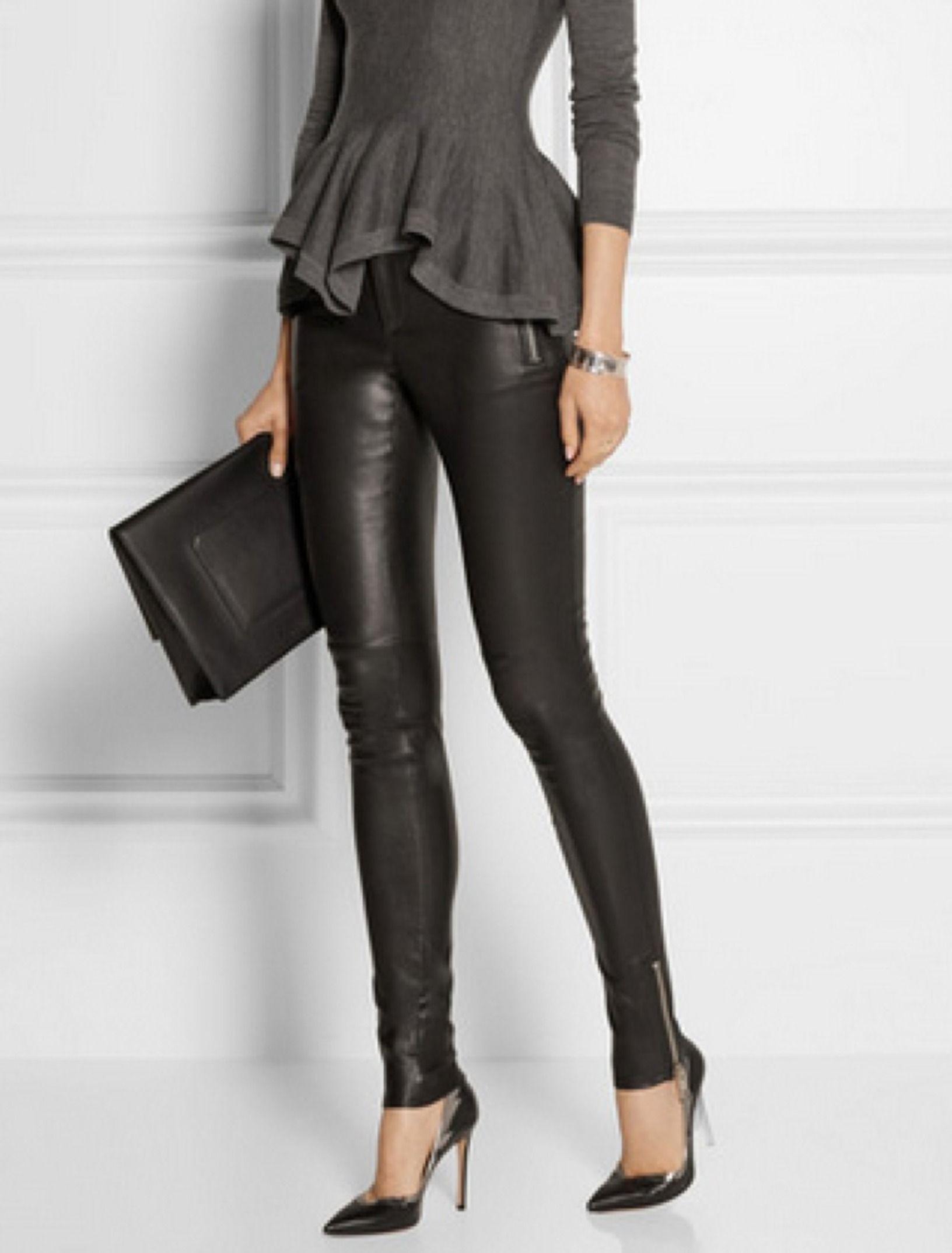 bbf4f95ea3b3 Leather leggins Gucci | Ideas vestuario | Moda, Leggings de cuero y ...