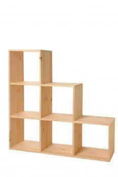Modulo Cases Brut Modulo Escalier 6 Cases A Peindre Avec Une Peinture Non Toxique Pour Une Chambre D Enfant Etagere Cube Pin Massif Meuble En Pin