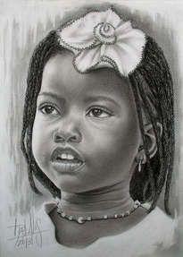 Obras De Arte De Dora Alis 1 Artelista Com Ninos De Africa Retratos Ninas De Raza Negra