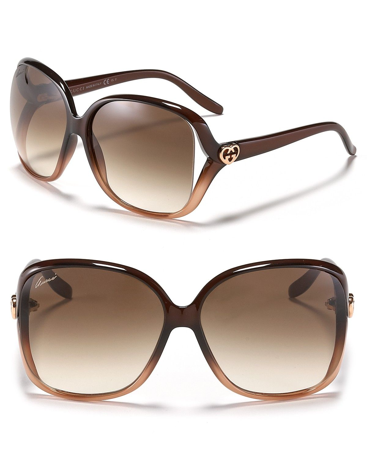ab2faa5233 Gucci Oversized Square Frame Sunglasses with Open Sides ...