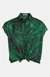 BB Dakota Palm Frond Print Shirt
