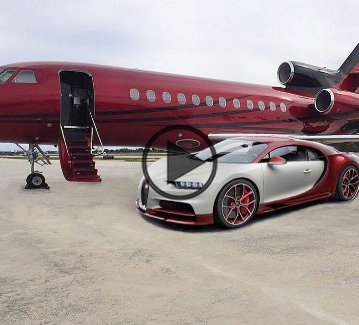Bugatti Chiron that matches your private jet /@riddhisinghal6