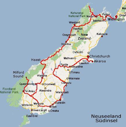 Bildergebnis Fur Neuseeland Reiseroute 4 Wochen Neuseeland
