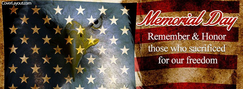 Memorial Day Remember And Honor Facebook Cover Coverlayoutcom