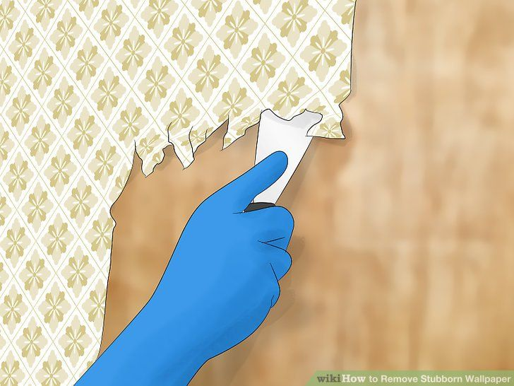 How To Remove Stubborn Wallpaper With Pictures
