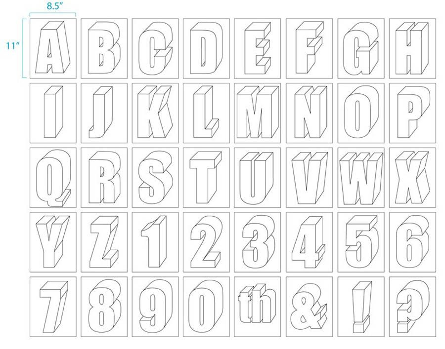 Large Size Alphabet Letter Printable | Alphabet : Art Projects for ...