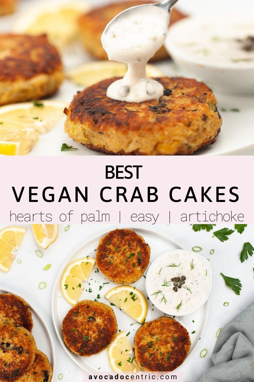 Vegan Crab Cakes Hearts Of Palm Gluten Free Avocado Centric Recipe In 2020 Vegan Crab Cakes Vegan Crab Vegan Main Dishes