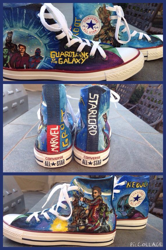 06baf3cc456c Guardians of the galaxy converse by koolbeansdesigns on Etsy ...