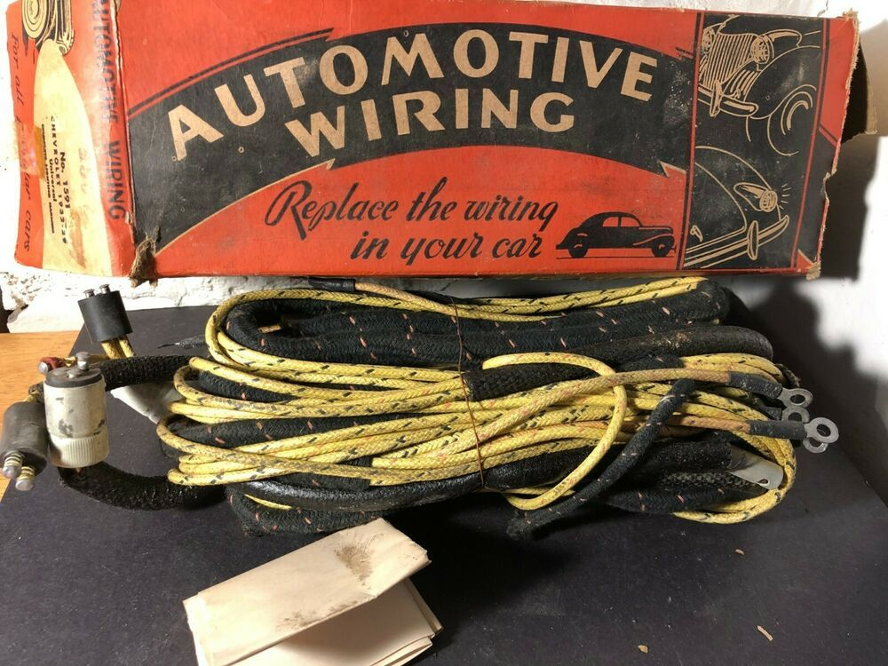 NOS 1929 - 1932 Chevrolet Wiring Harness in Original Box Cloth Covered Wire  #Chevrolet | Vintage tools, Things to sell, ChevroletPinterest